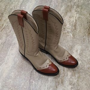 WOMENS Leather  COWBOY BOOTS SIZE 6.5
